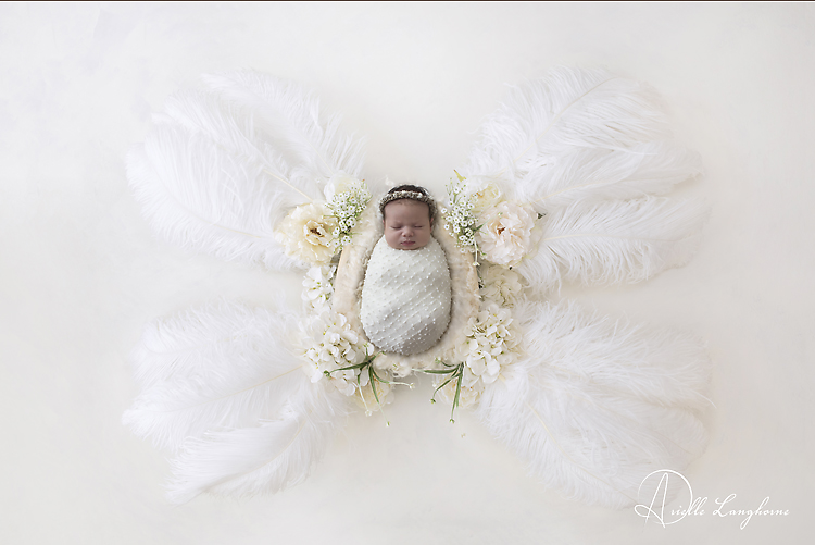 Newborn as a butterfly